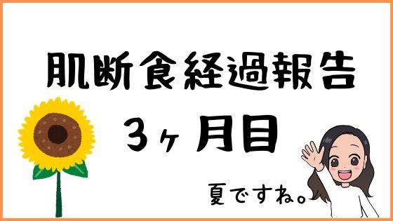 肌断食経過報告03【肌断食3ヶ月目のブログ記録】